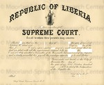 Republic of Liberia.[certificate of appointment]
