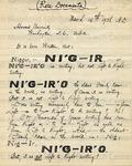 Nigger - NI'G-IR,- or NIG-IR'O is writing