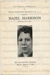 Harrison, Hazel.