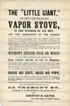"""The """"Little Giant"""" or self-generating vapor stove (An advertisement for exhibition and sale)."""