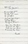 Cullen, Countee Porter, 1903-1946, Poem.