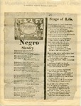 Negro Slavery /and/ Stage of Life.