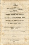 U.S. Navy Dept., Washington, D.C., Letter.