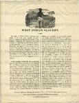 Broadside Begin - West Indian Slavery.