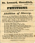 Broadside - Petitions to be presented to both Houses of Parliament, for the abolition of slavery.