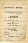 Broadside Begin - Proclamation Meeting.