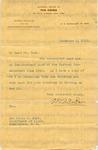 Du Bois, W.E.B., Letter.