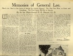 Memories of General Lee Dec. 2, 1909