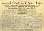 General Grant As I Knew Him Oct. 28, 1909