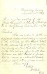 Statement by Wm. Webb, clerk, First Congregational Church