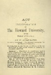 Howard University - Acts of Incorporation by O.O. Howard Collection