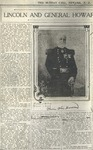 Lincoln and General Howard - Newspaper Article - photostat
