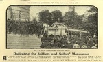 Newspaper clippings - Memorial Day Monument of Soldiers and Sailors