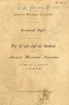Ryder, Charles J.-The Outlook and the Outlook of the AmericanMissionary Association