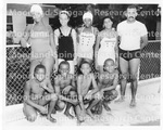 Children Pose for Photograph at the Swimming Pool