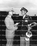 Cadet Captain, George E. Burke and Lt. Col. Stanley O. Rishoi