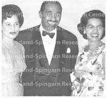 Three People Smiling - Unidentified Group of Men and Women