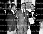 Dickie Wells, Doler Dinkins and Joe Louis at Club Ebony