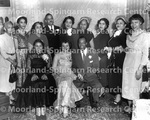 Unidentified group of actors pose for photograph