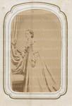Unidentified woman in white dress