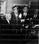 Dr. Alain Locke with Mrs Elenore Roosevelt and Unidentified Group
