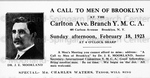 """A Call to Men of Brooklyn"" Announcement Card"