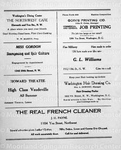 Advertisements in program cover the Wash. Conservatory of music