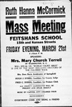 Advertisement for Mary Church Terrell speaking engagement