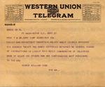 Cook, George William to Thomas Montgomery Gregory (telegram 2) by Thomas Montgomery Gregory