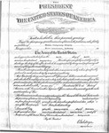 Appointment Certificate - 1st Lieutenant by Thomas Montgomery Gregory