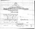Honorable Discharge Certificate by Thomas Montgomery Gregory