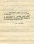 Sawkins, A. E. to Captain George A. Holland, 22 April 1919